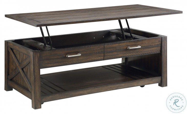 Traine Brown Lift Top Cocktail Table