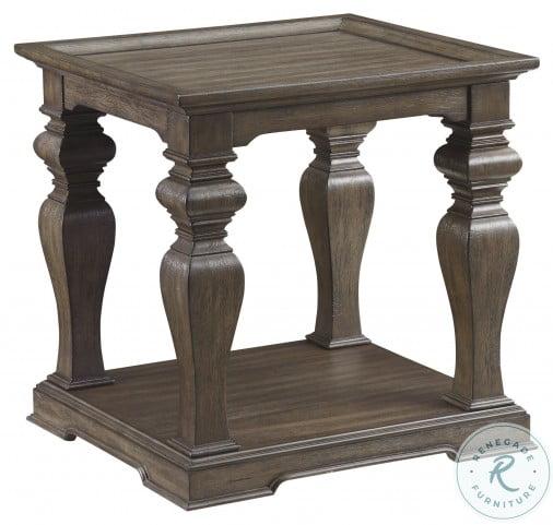 Calera Antique Pecan End Table