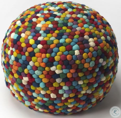 Felicity Multicolor Pouffe