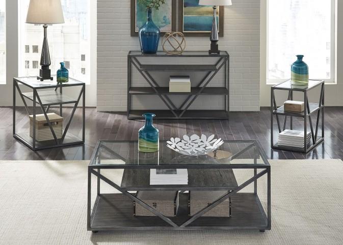 Arista Cobblestone Brown Occasional Table Set