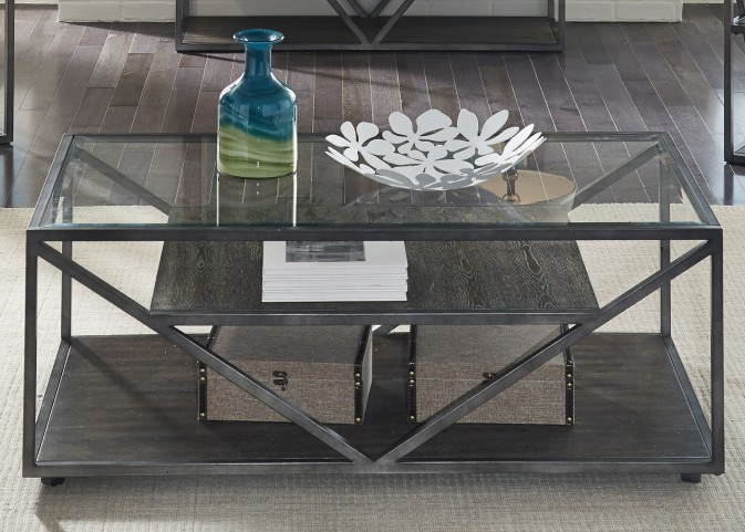 Arista Cobblestone Brown Rectangular Cocktail Table