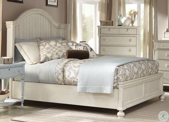 Newport Antique White Panel Bedroom Set