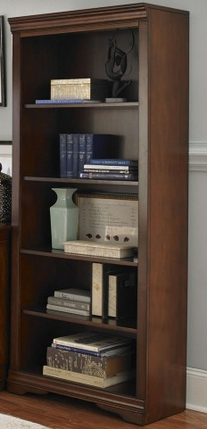 Harbor Ridge Rustic Cherry Open Bookcase