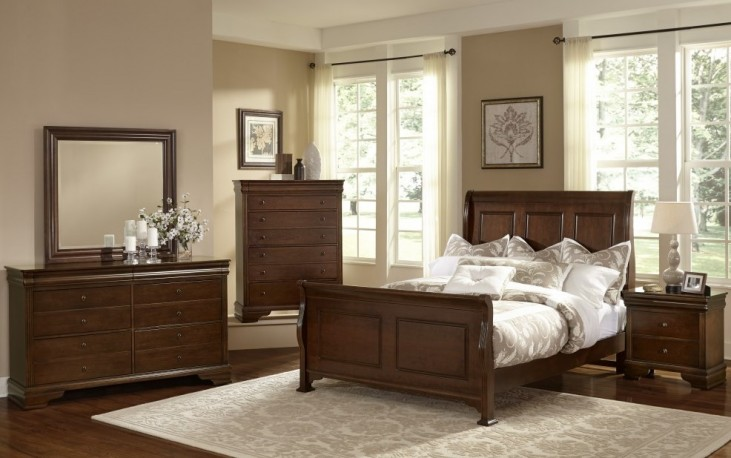 French Market French Cherry Youth Sleigh Bedroom Set
