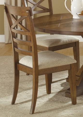 Hearthstone Rustic Oak X Back Side Chair