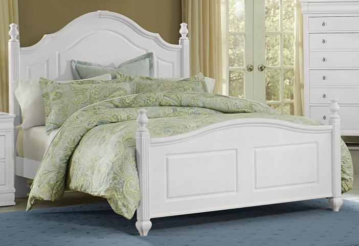 French Market Soft White King Poster Bed