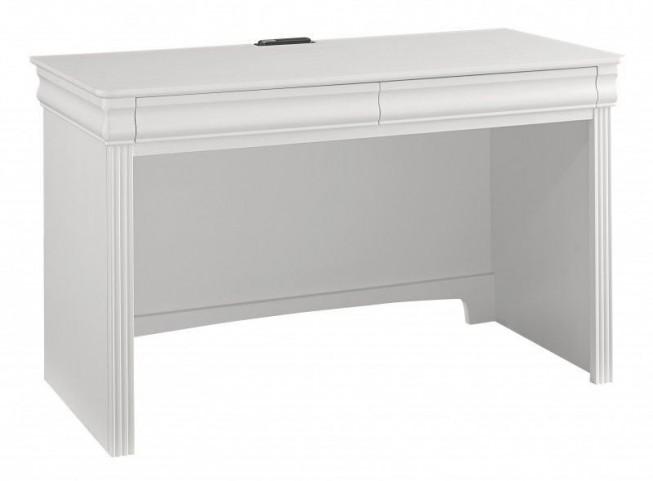 French Market Soft White 2 Drawer Laptop/Tablet Desk