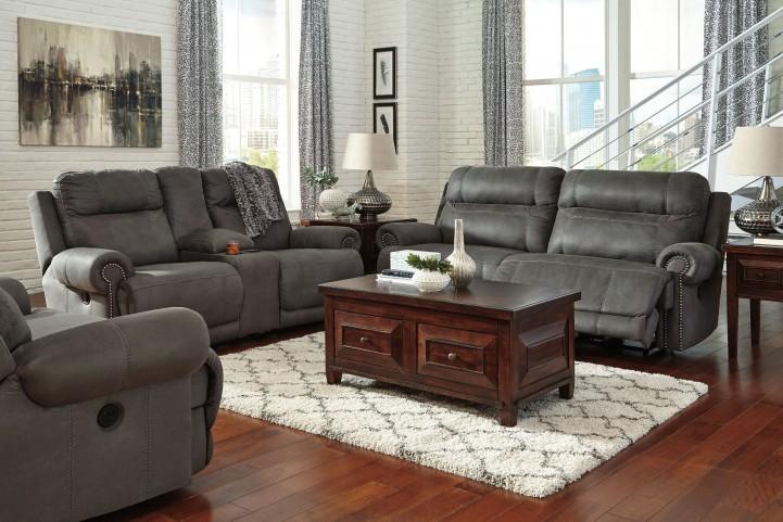 Austere Gray Power Reclining Living Room Set