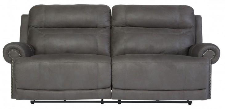 Austere Gray Reclining Sofa