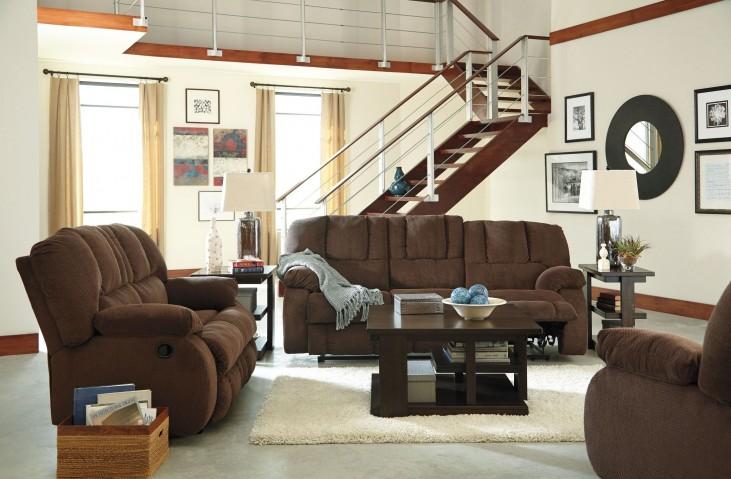 Roan Cocoa Reclining Living Room Set