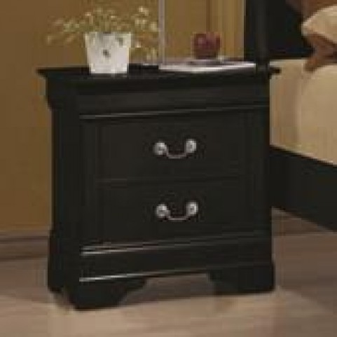 Louis Philippe Black II Night Stand