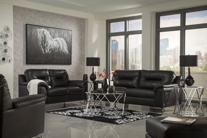 Tensas Black Living Room Set