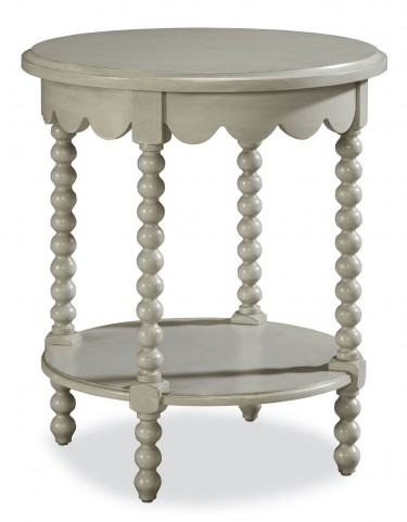 Riverhouse Oyster Shell Bobbin Side Table