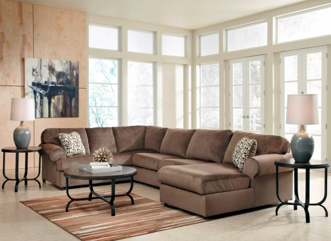 Jessa Place Dune Right Arm Facing Sectional From Ashley