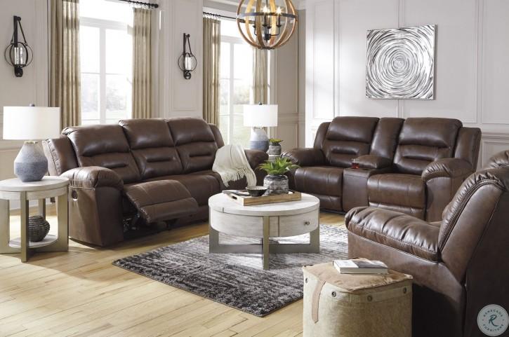 Stoneland Chocolate Power Reclining Living Room Set
