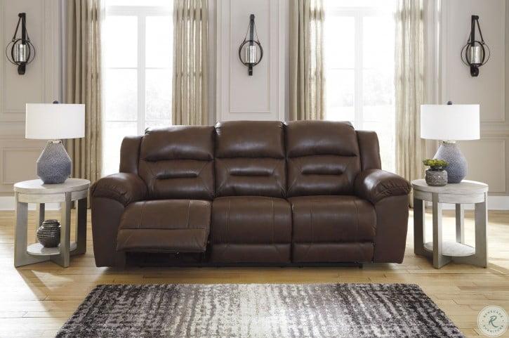 Stoneland Chocolate Power Reclining Sofa
