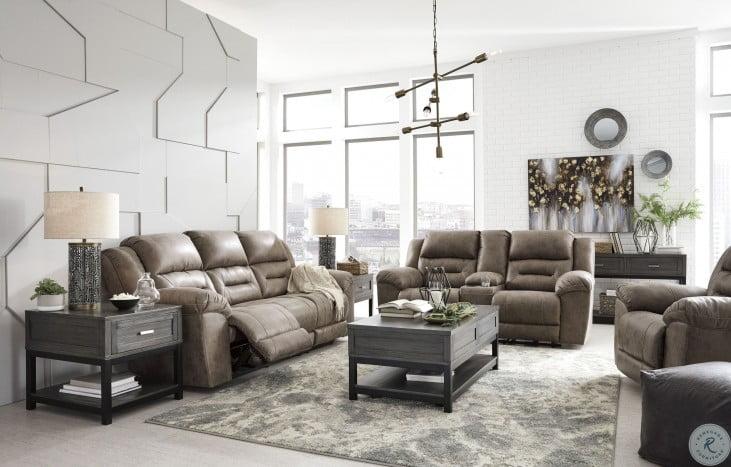 Stoneland Fossil Power Reclining Living Room Set