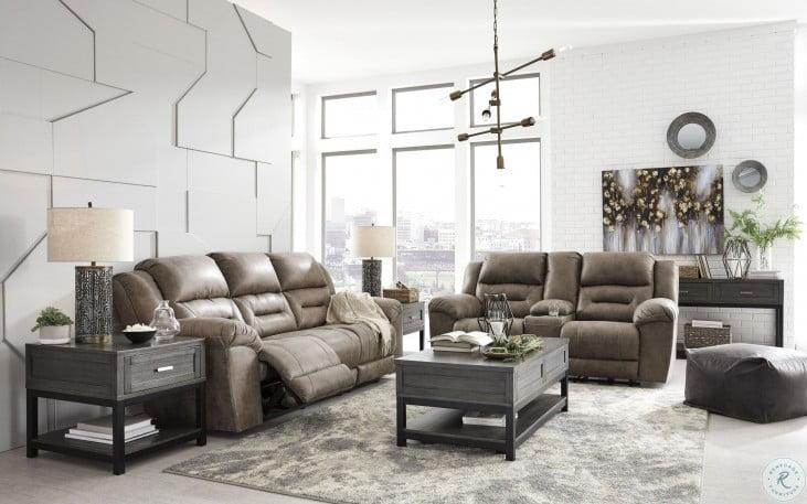 Stoneland Fossil Reclining Living Room Set