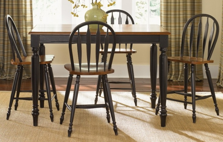 Low Country Black Counter Height Dining Set
