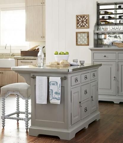 Dogwood Cobblestone Kitchen Island Set From Paula Deen 599644