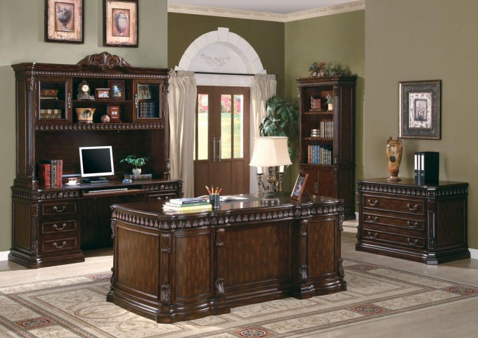 Union Hill Executive Home Office Set From Coaster (800800) | Coleman  Furniture