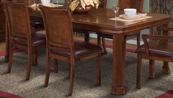 Sheridan Burnished Cherry Rectangle Extendable Dining Table