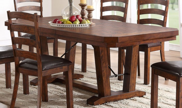 Lanesboro Distressed Walnut Extendable Dining Table