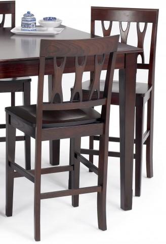 Abbie Bordeaux Counter Chair Set of 2