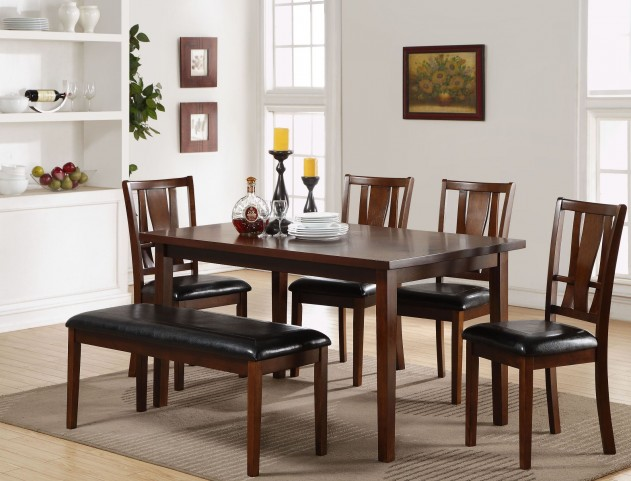 6 Pcs Dixon Dark Espresso Dining Room Set from New Classic ...