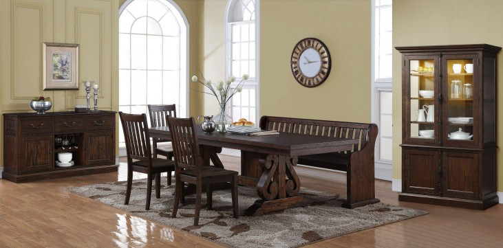 San Juan Distressed Espresso Dining Room Set From New Classic