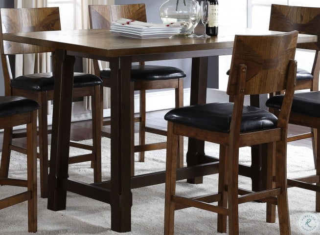 Gillian Two Tone Counter Height Dining Table From New Classic Coleman Furniture