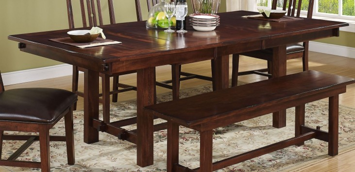 Madera African Chestnut Extendable Dining Table