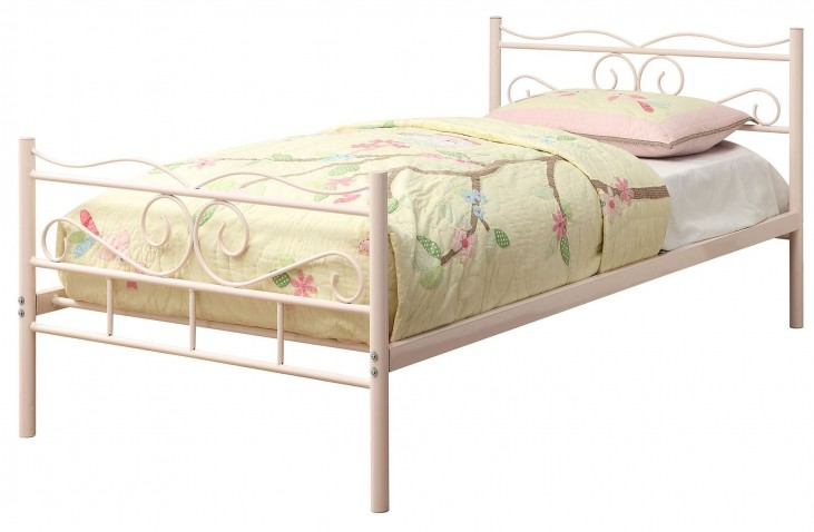 Bailey Pink Twin Panel Bed