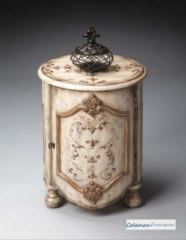 Guilded Cream Drum Table