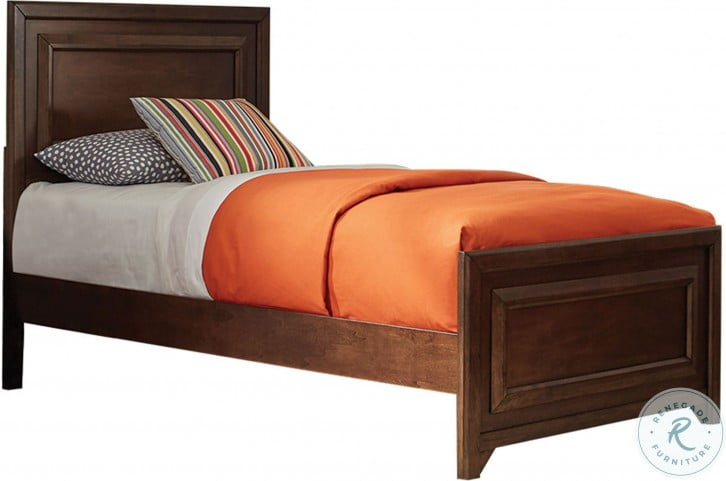 Greenough Maple Oak Full Panel Bed