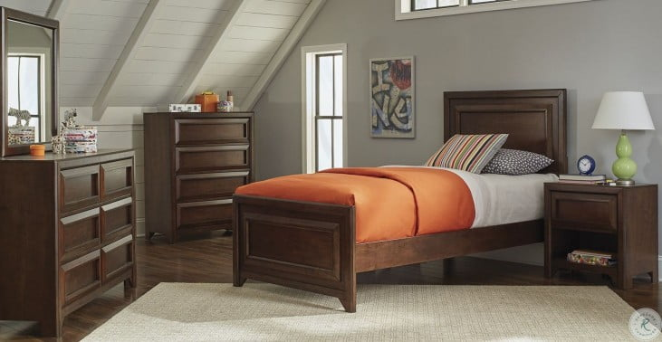 Greenough Maple Oak Twin Panel Bed