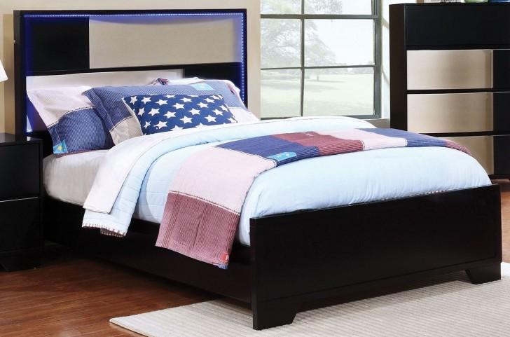 Havering Black and Sterling Twin Platform Bed