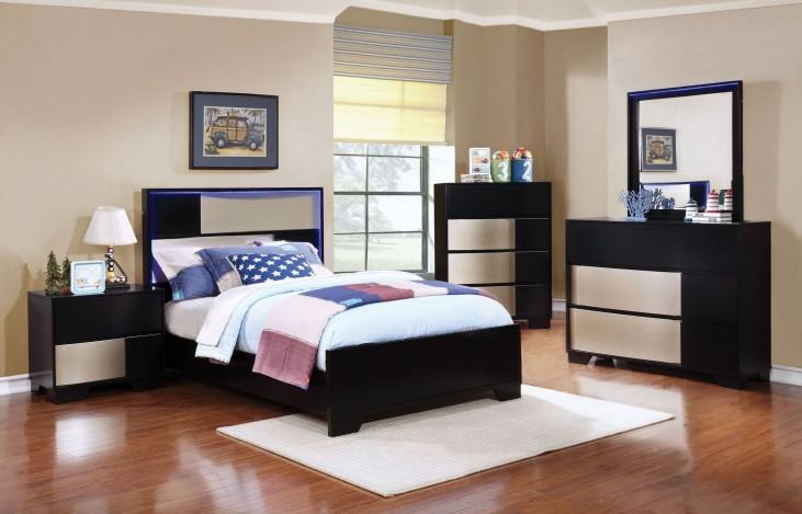 Havering Black and Sterling Youth Platform Bedroom Set