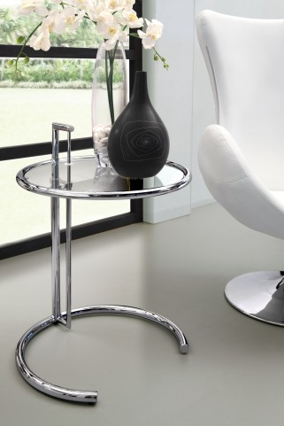 Eileen Clear Glass Gray Side Table