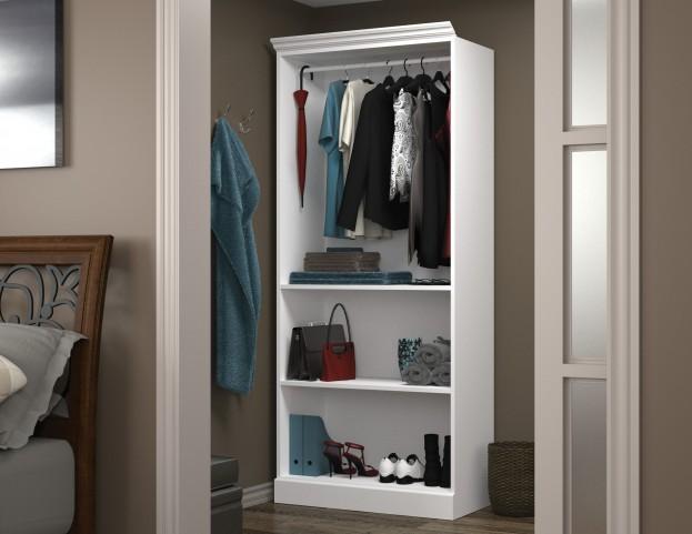 "Versatile White 36"" Closet Storage Shell"