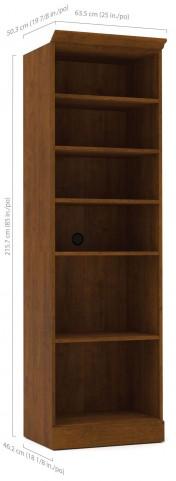 "Versatile Tuscany Brown 25"" Open Storage Unit"