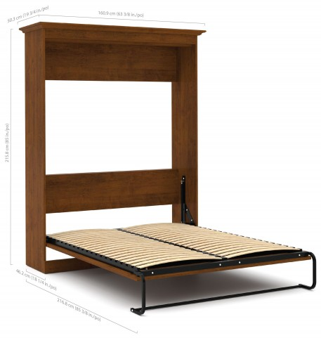 Versatile Tuscany Brown 64'' Full Wall Bed