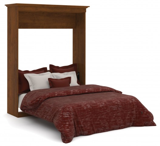 Versatile Tuscany Brown 70'' Queen Wall Storage Bed
