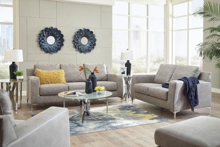 Ryler Steel Living Room Set