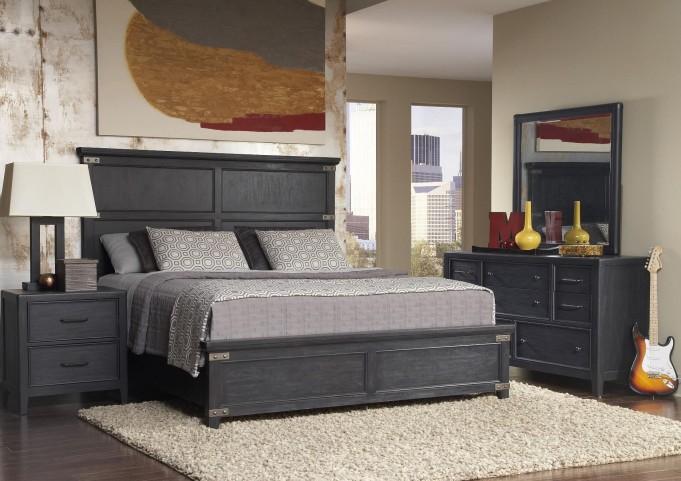 Vintage Tempo Unique Charcoal Vintage Tempo Platform Bedroom Set