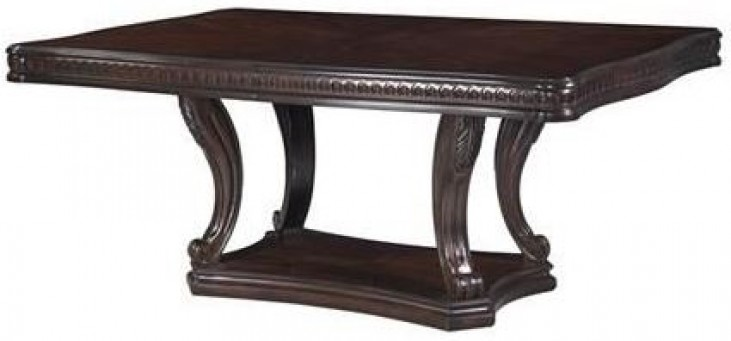 Grand Estates Cinnamon Extendable Double Pedestal Dining Table