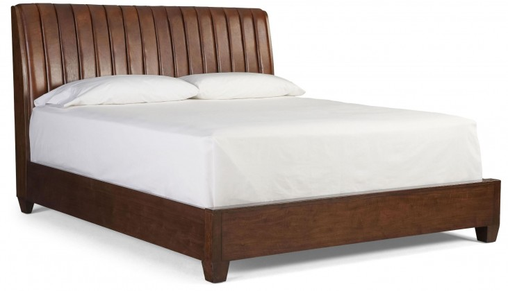 Modern Harmony Burnished Walnut Cal. King Platform Bed