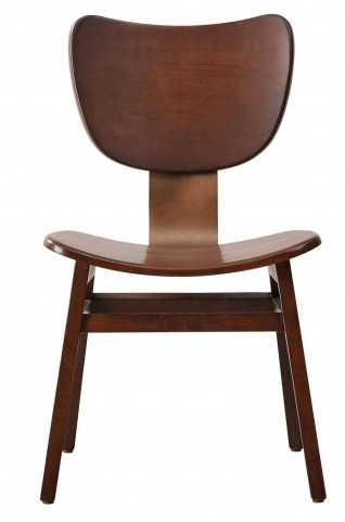 Modern Harmony Burnished Walnut Side Chair Set of 2