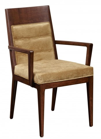 Modern Harmony Burnished Walnut Large Arm Chair Set of 2