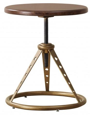 Modern Harmony Burnished Walnut Accent Table/Stool